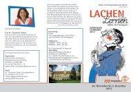 Zertifikatslehrgang Lachen und Lernen
