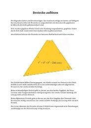 Dreiecke auflösen