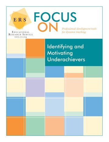 an essay on student underachievers Students will need an adaptation of the trifocal model that a school in colorado facetiously termed the bifocal version of the trifocal model most steps of the model are similar to the original trifocal model, but a child advocate substitutes for the parent reinforcement role and meets with the student weekly to monitor progress.