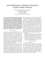 Joint Optimization of Spectrum Sensing for Cognitive Radio Networks