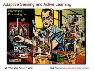 Adaptive Sensing and Active Learning - Electrical Engineering and ...