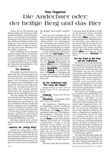 Guggemos - Die Andechser oder der heilige Berg und das Bier