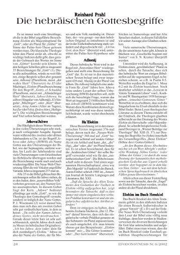 54 Prahl - hebräische Gottesbegriffe