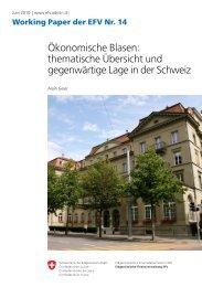 Ökonomische Blasen: thematische Übersicht und ... - admin.ch