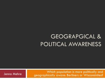 Geographical and Political Awareness - EF Tours