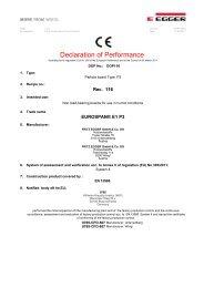 Declaration of Performance EUROSPAN® E1 P3 (PDF) - EGGER