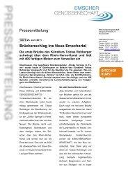 Pressemitteilung Brückenschlag ins Neue Emschertal - EGLV