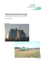 Abfallwirtschaftskonzept des Lippeverbandes - EGLV