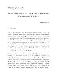 (Artigos) relação dos podederes executivo e judiciário no que tange ...