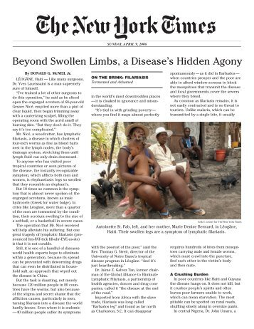Beyond Swollen Limbs, a Disease's Hidden Agony - The Carter Center