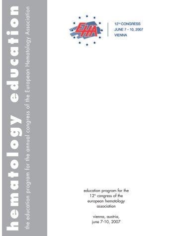 EHA 12 Vienna, 2007 - European Hematology Association