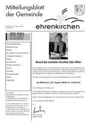 Besuch der Landrätin Dorothea Störr-Ritter - Gemeinde Ehrenkirchen