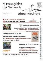 Freitag, den 19. Juli 2013 Nummer 29 - Gemeinde Ehrenkirchen