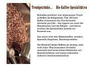 Trendgetränke... Bio-Kaffee-Spezialitäten - Ein Herz für Bio