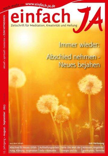 Ausgabe Aug/Sep 2013 von - einfach JA