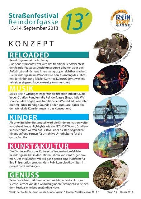 Straßenfestival 2013 Konzept