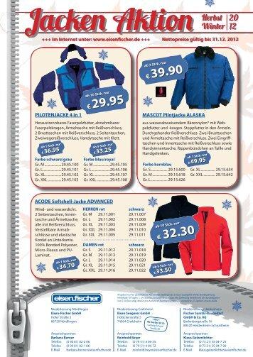 € 39.90 € 32.30 € 29.95 - Eisen-Fischer GmbH