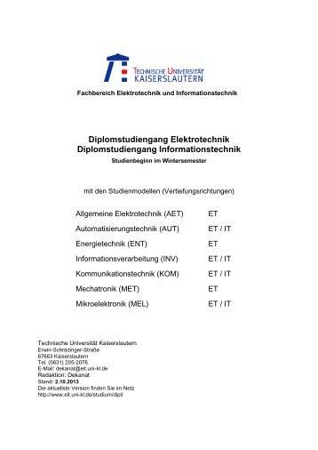 Fachbereich Elektrotechnik und Informationstechnik - Universität ...