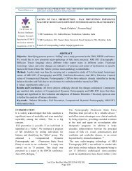 International Journal of Current Research and ... - eJManager.com