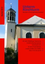 Herbstbrief 2013 - Evangelische Kirchengemeinde Eppelheim