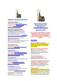 Monatsflyer 2012-12 - Evangelische Kirche in Mannheim