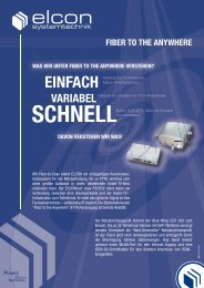 EINFACH - Elcon Systemtechnik