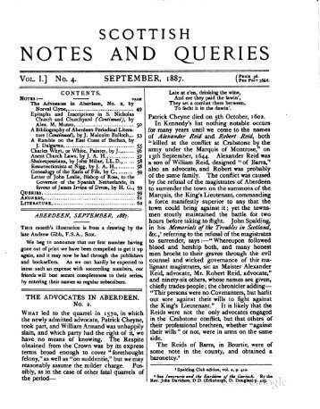 Scottish Notes and Queries - Electric Scotland