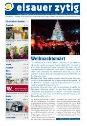 Weihnachtsmärt - Elsauer Zytig