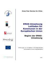 EMAS-Umsetzung Leitfaden für Kommunen in der Europäischen ...