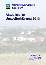 Aktualisierte Umwelterklärung 2013 - EMAS