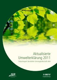 Aktualisierte Umwelterklärung 2011 - EMAS