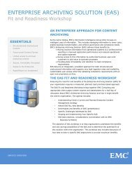 Enterprise Archiving Solution Fit and Readiness Workshop - EMC