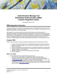 Authentication Manager 8.0 RBA Custom Integration Guide - EMC