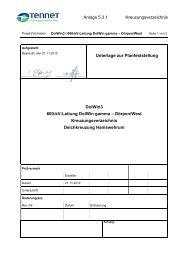 5.3.1 Kreuzungsverzeichnis Deichkreuzung Hamswehrum
