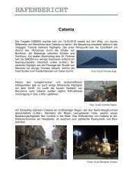 Hafenbericht Catania - Stadt Emden