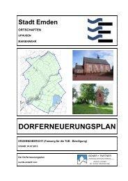 ENTWURF Dorferneuerungsplan, Teil 1 - Stadt Emden