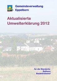 Aktualisierte Umwelterklärung 2012 - EMAS