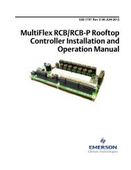 026-1707 MultiFlex RCB Rooftop Control I/O - Emerson Climate ...