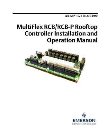 Emerson Electronic unit controller manual
