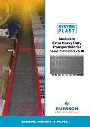 modulare Extra heavy duty transportbänder Serie 2508 und 2630