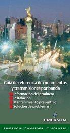 Guía de referencia de rodamientos y transmisiones por banda
