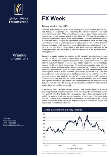 FX Week 27 October 2013 - Emirates NBD