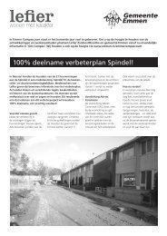 100% deelname verbeterplan Spindel! - Gemeente Emmen