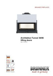 Architektur-Tunnel 38/86 lifting doors made in germany - Brunner