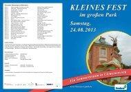 Das Gesamtprogramm der Veranstaltung am 24. August 2013 ...