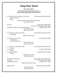 2013 Recital program and performer bios - Eastern Mennonite ...