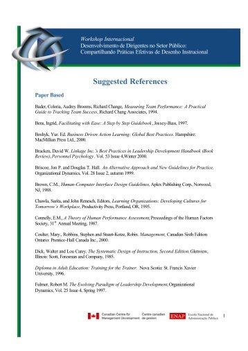 Suggested References - Enap