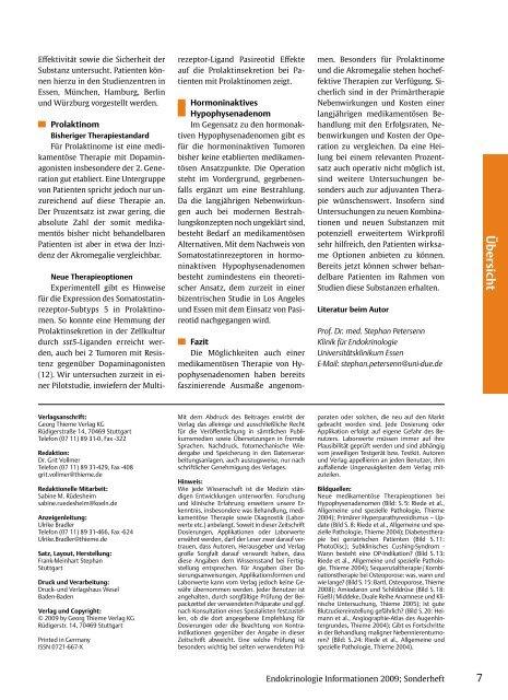 Sonderheft - Deutsche Gesellschaft für Endokrinologie