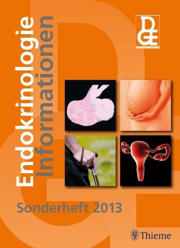Sonderheft 2013 - Deutsche Gesellschaft für Endokrinologie
