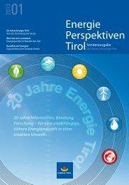 Download Energieperspektiven Sonderausgabe 01 ... - Energie Tirol